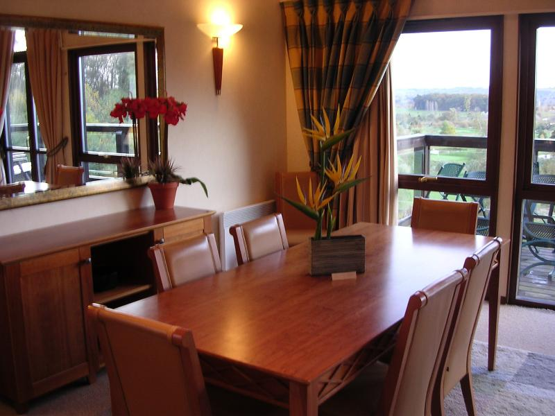 Dining area table - seats 8