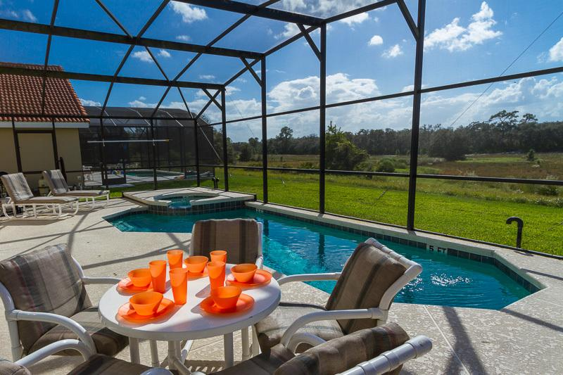 Enjoy the sun with your family by the private pool/SPA with great view.