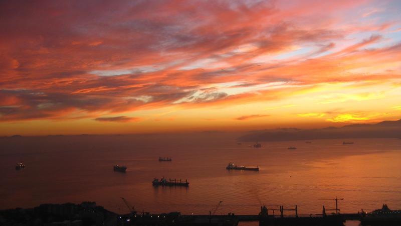 Algeciras bay from the top of Gibraltar rock