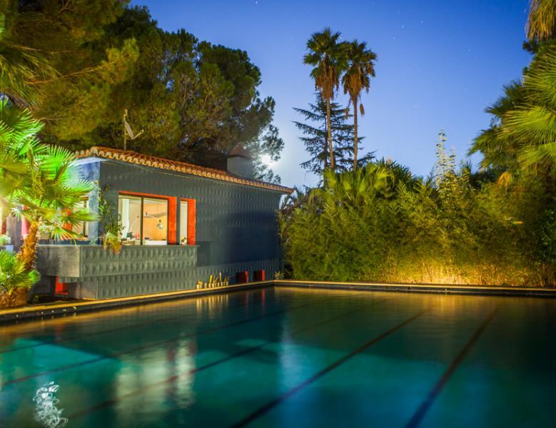Casa Azul. Vista piscina