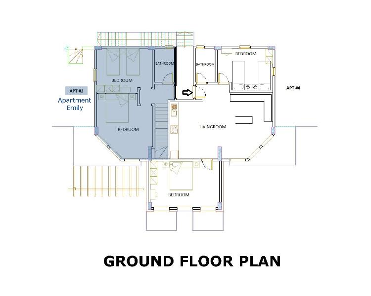 Plattegrond appartement Emily