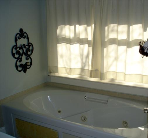 Master BAth has tub & shower