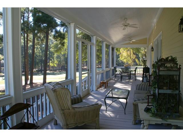 An amazing porch for morning coffee or evening Happy Hour