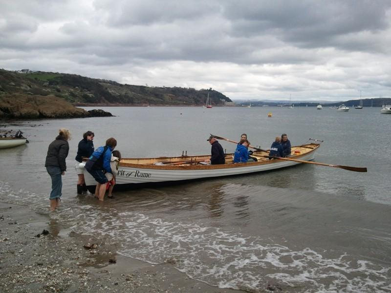Gig racing from Cawsand beach