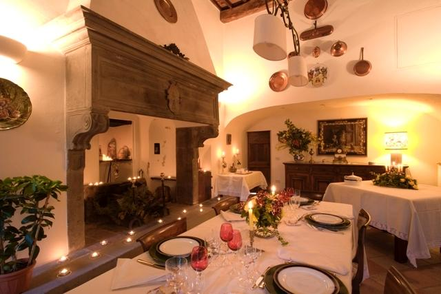 The breakfast and dining room of Palazzo Torriani