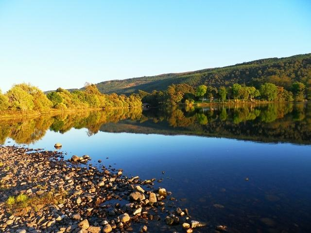 Loch Meiklie, 5 minutes walk from the lodges. Ideal for pike fishing