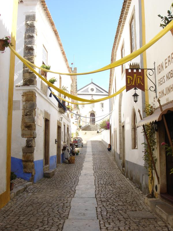 Cobbled streets of Obidos