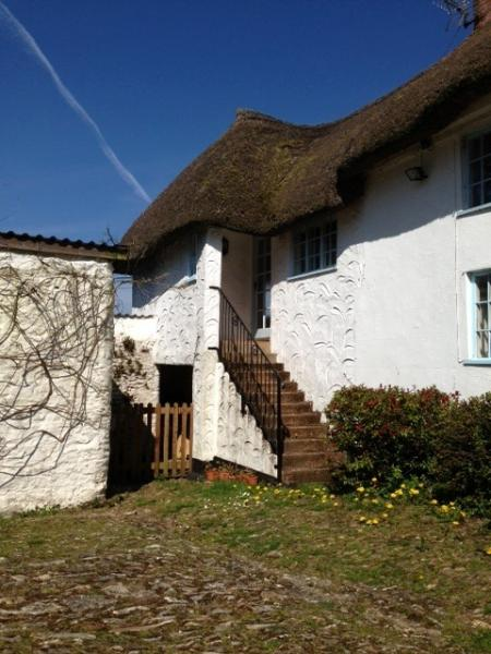 The entrance to the Annexe your own small piece of thatched living