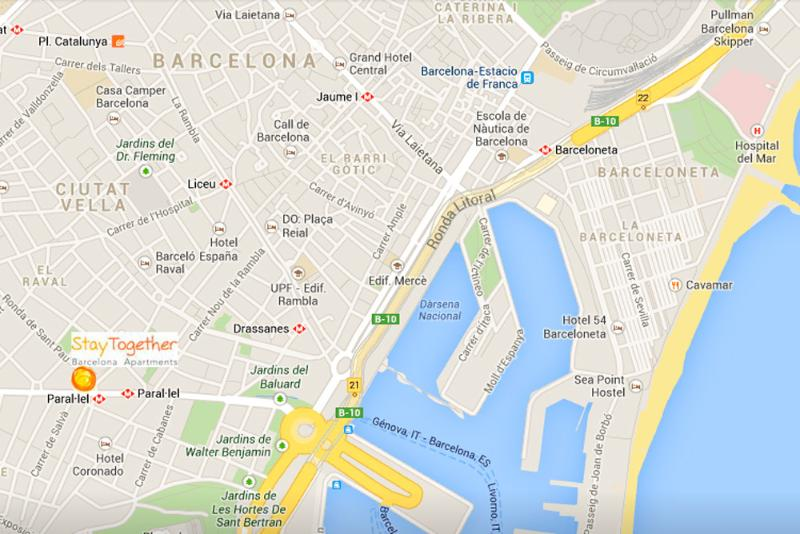 In the best location in downtown Barcelona next to Las Ramblas & Gothic quarter