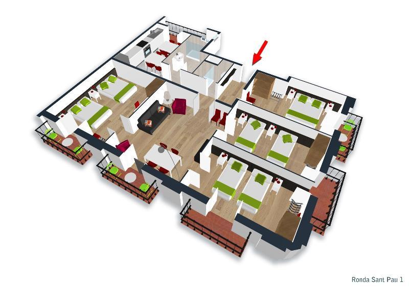 Cuatro dormitorios - planta... Sentirse como en casa con tus amigos o familiares
