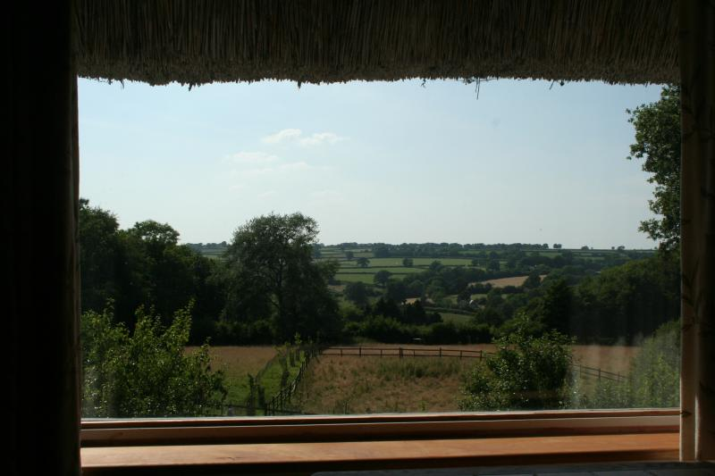A room with a view - the view over the valley from the annexe lounge