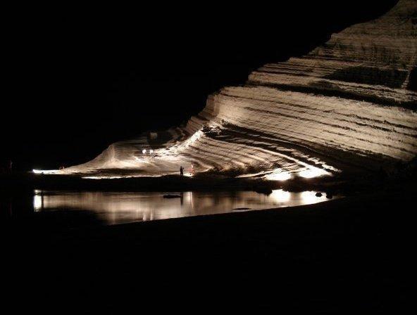 Scala dei Turchi di sera