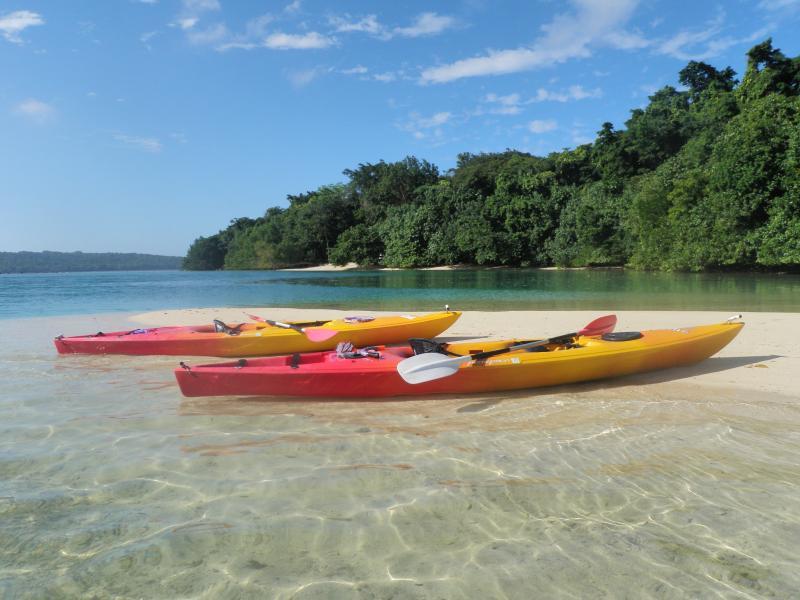 Free use of kayaks