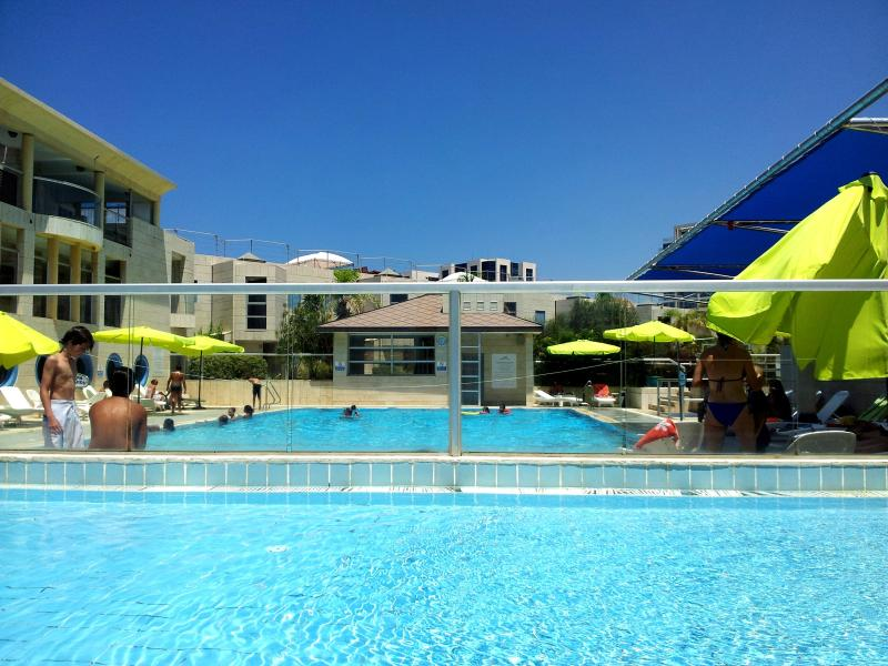The children and adults swimming pools
