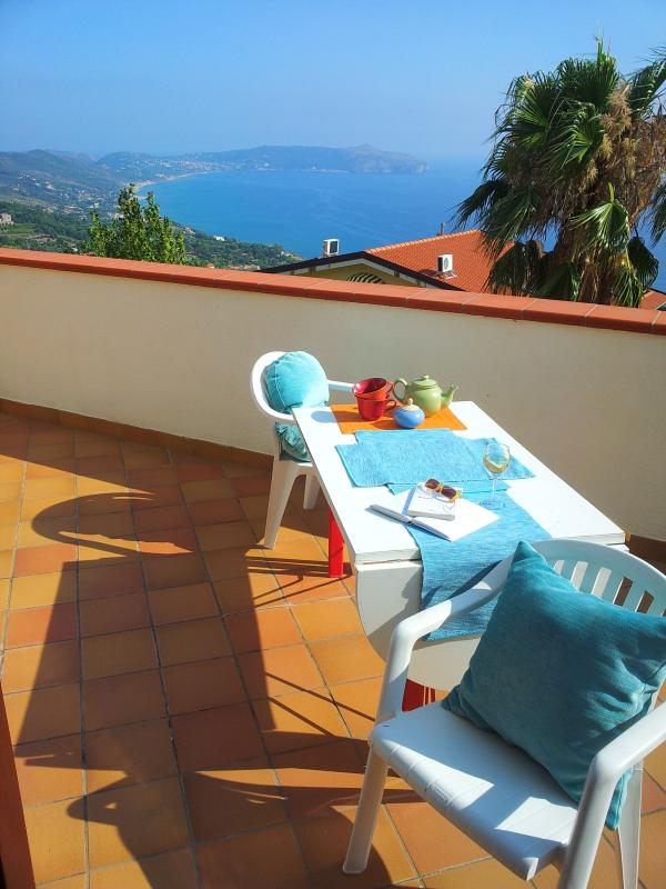 Guests can enjoy a spacious and private terrace with breathtaking views of the Cilento's Gulf
