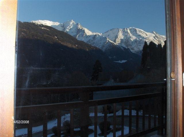 Vue spectaculaire sur le mont-blanc et les Alpes