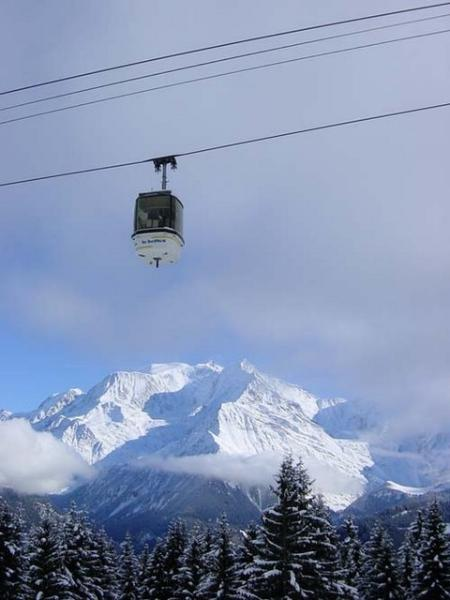 Saint Gervais/Megeve ski area with over 450 km of slopes