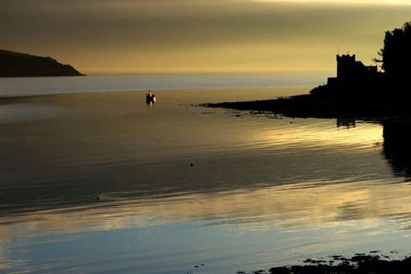 Balcary Bay at dusk