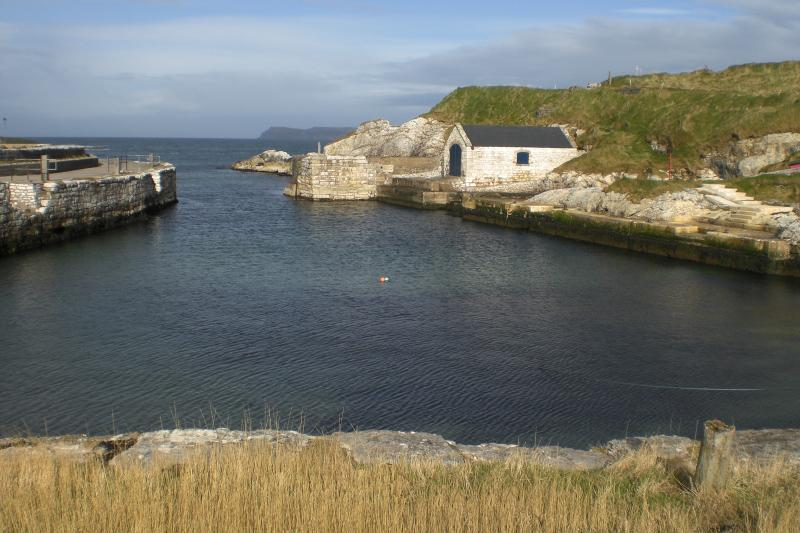 Picturesque Ballintoy Harbour , a location for the filming of Game of Thrones.