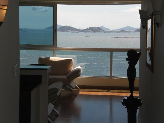 View out of Living room onto Panama Bay and Waiting Area for ships transiting the Canal