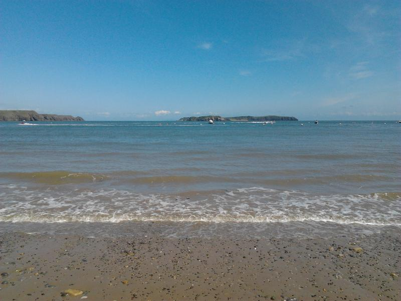 Caldey  Island from beach