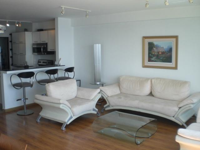 Living room and Breakfast Bar adjoining Kitchen, Italian Lighting throughout
