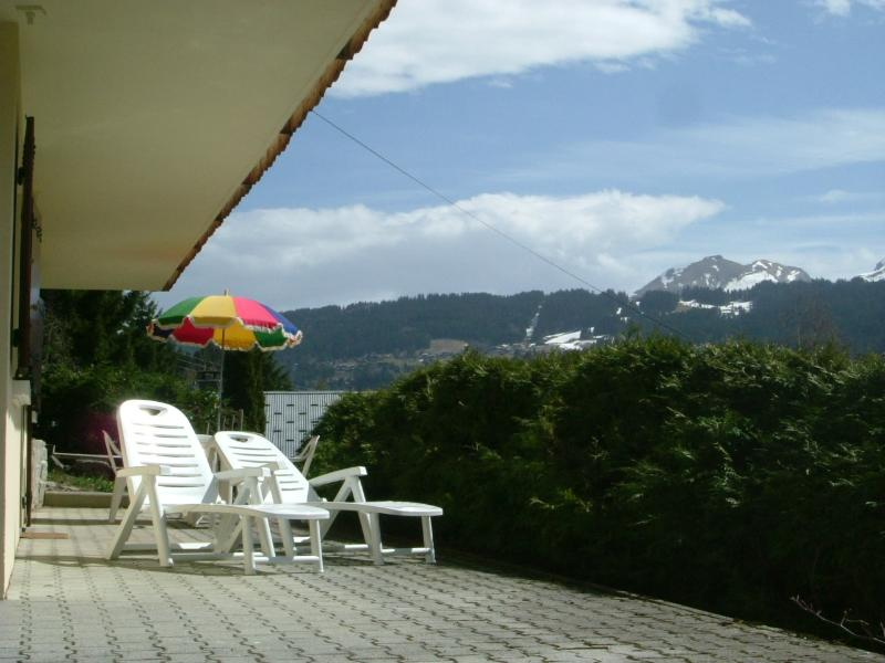 Sunny terrace and great view towards the village