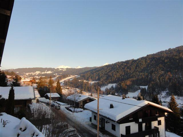 Winter view down towards the village
