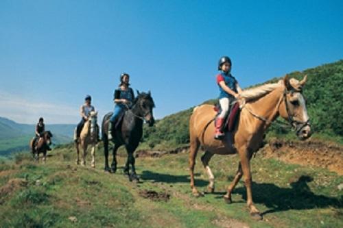 C'è qualche grande equitazione in Snowdonia.