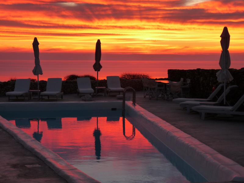 October sunset from the pool