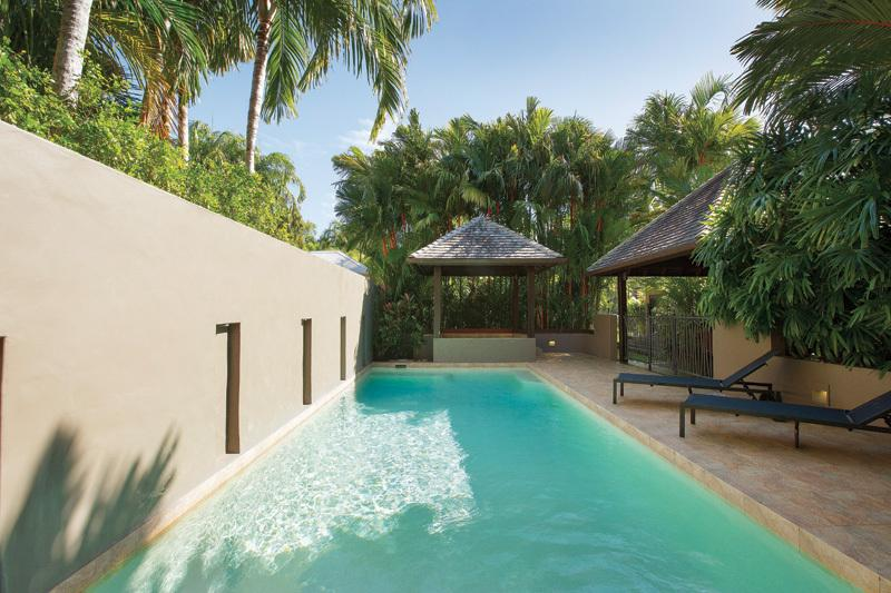 Relax pool side and soak up the tropical ambience