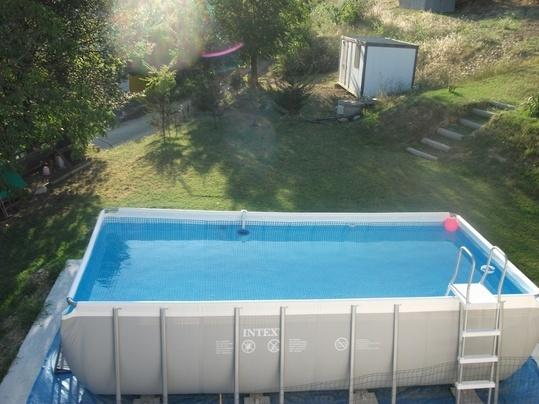 Outdoor swimming pool keeps you cool on those hot days
