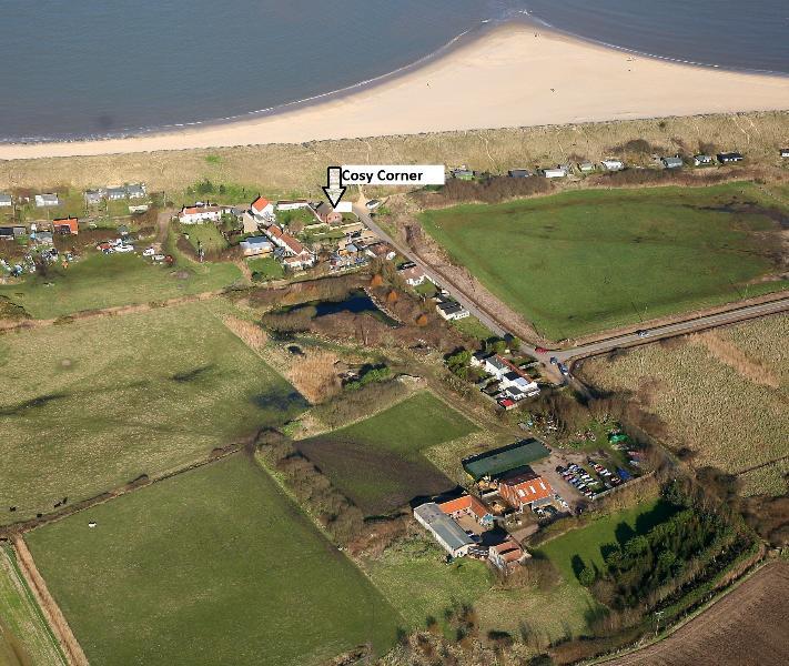 Aerial photo of location of Cosy Corner