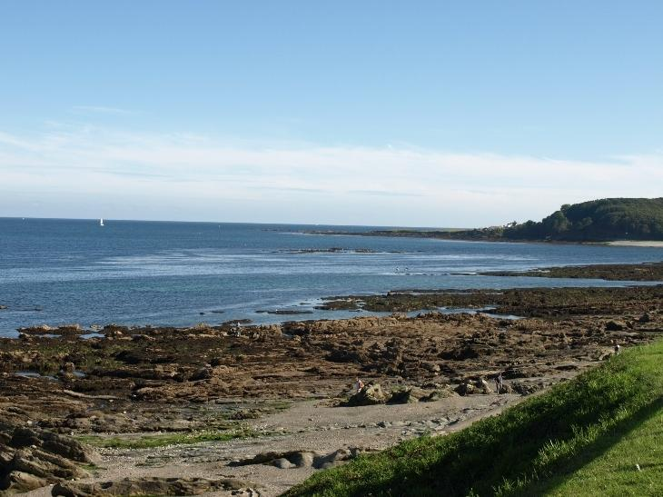 Hannafore looking out to Looe Island