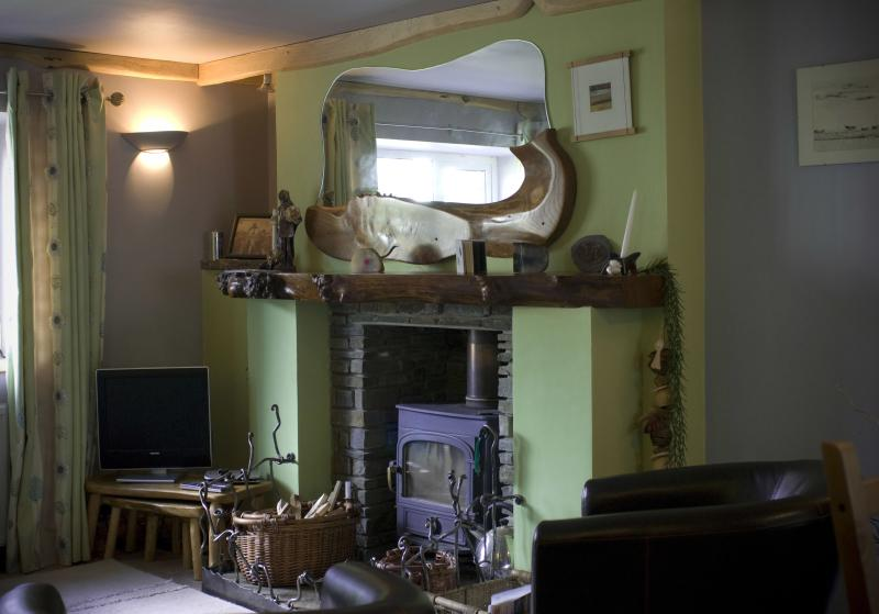 Woodburner in lounge
