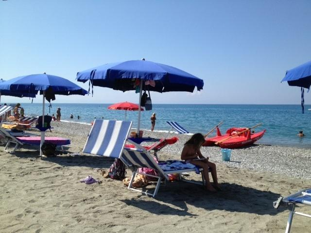 One of the beach lidos on Nocera main beach