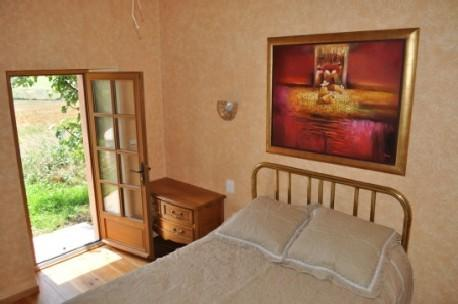 Master bedroom with views on open farmland