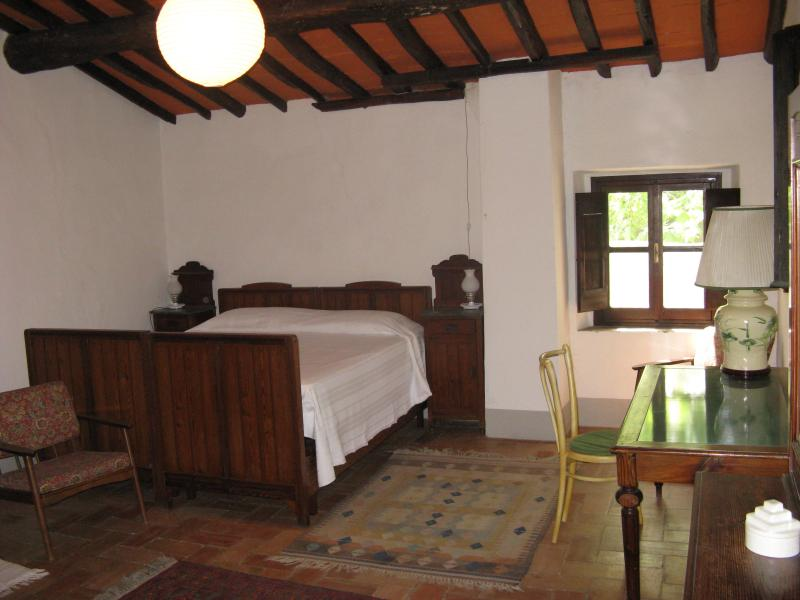 View of the bedroom - double bed.