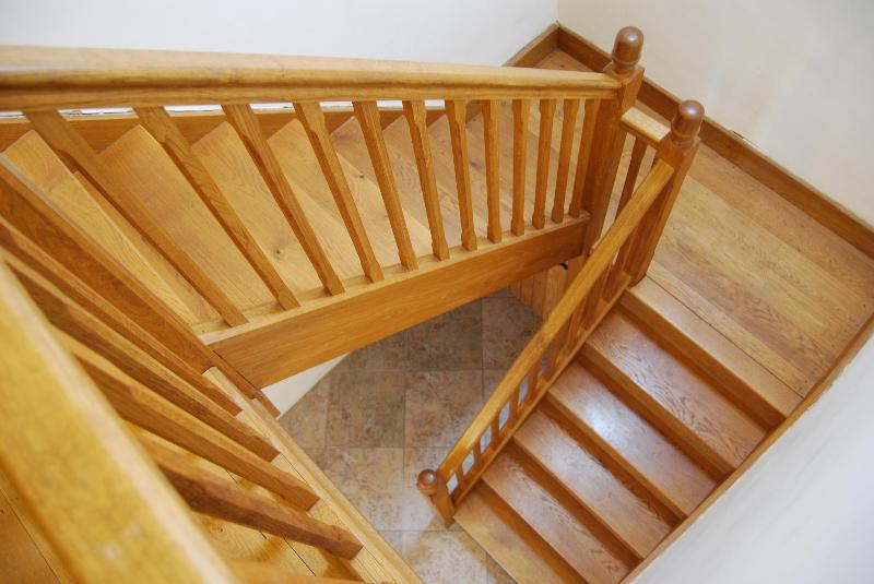 The feature oak staircase is the height of luxury.