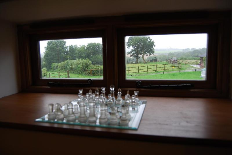There are great views over the 20 acres from all the upstairs windows.