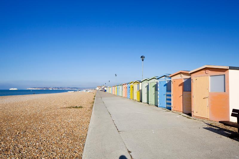 Beach huts on our local Seaford beach (3 minute drive / 20 minute walk away)