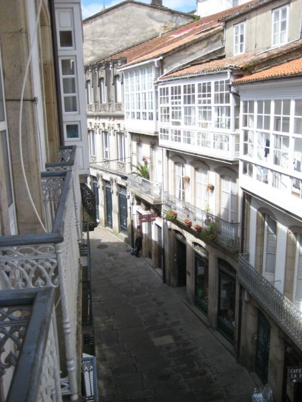 Balconies facing the street