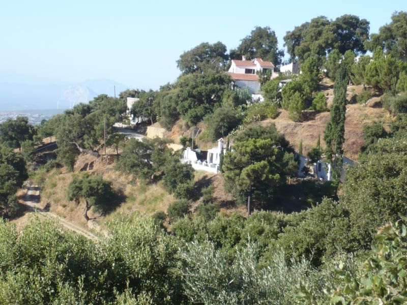 The villa on the mountain loins and Gibraltar and the sea