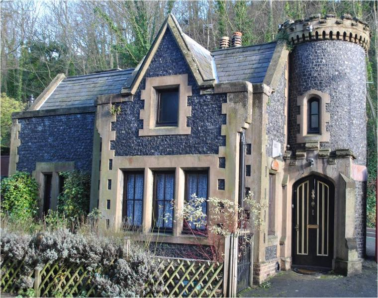 The Gate House, grade II listed gothic mini castle build c1850.