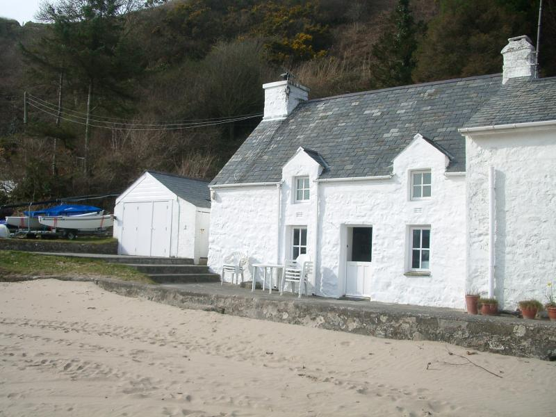 View of the cottage taken from the beach