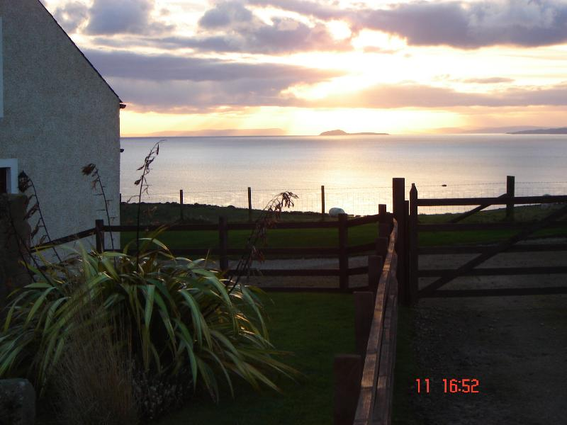 The sun setting over Kintyre, taken from Eryb garden