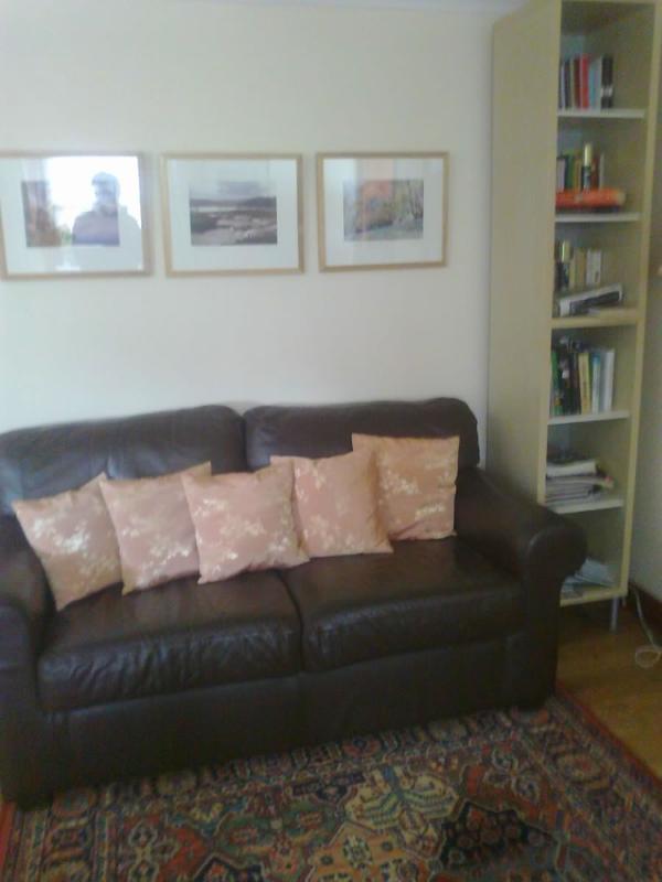 A comfy sofa.