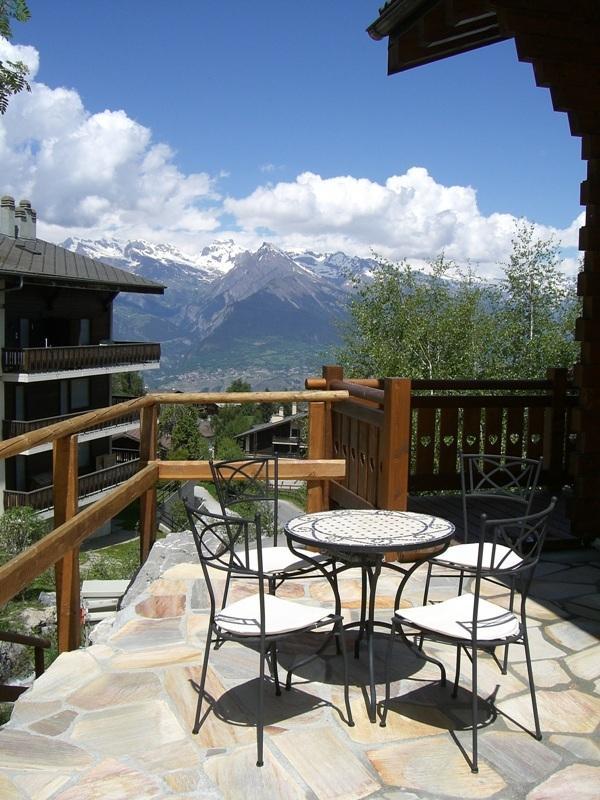Patio with stunning mountain views