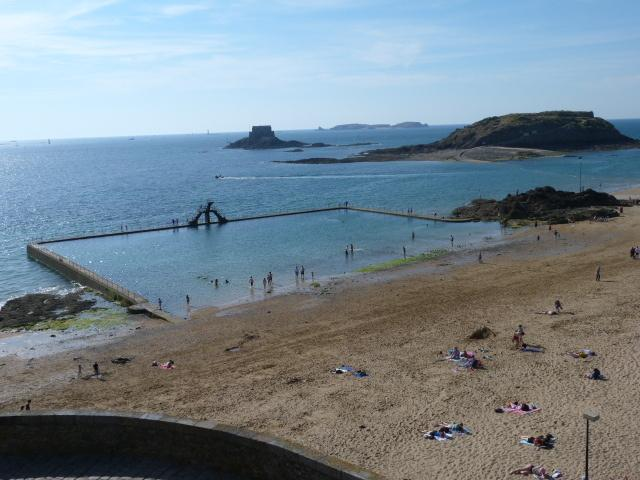 Swimming pool on St Malo beach