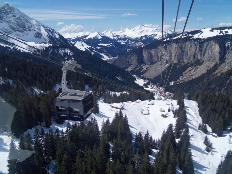 The great new gondola at Prodains (just around the corner from the chalet)